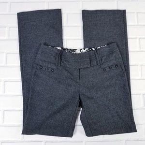 Joe B Black Gray Tweed Career Dress Pants Trousers